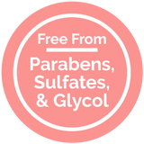 Free From Parabens, Sulfates, & Glycol