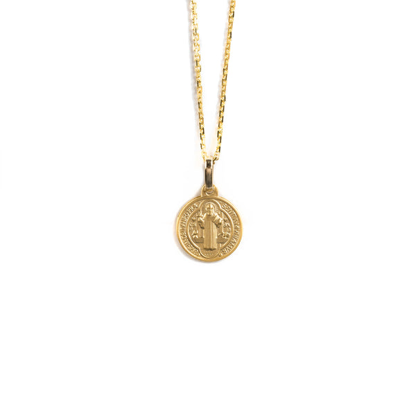 14K GOLD MEDALL WITH SAINT BENEDICT