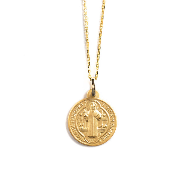14K GOLD MEDAL WITH SAINT BENEDICT