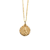 14K GOLD MEDALL WITH OUR LADY OF GUADALUPE