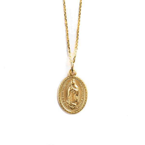 14K GOLD MEDAL WITH VIRGIN OF GUADALUPE