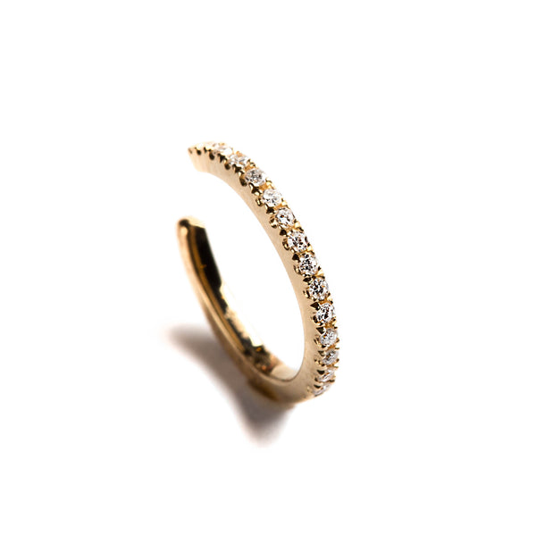 14K GOLD EAR CUF WITH DIAMONDS