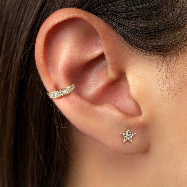 14K GOLD EAR CUFF WITH DIAMONDS