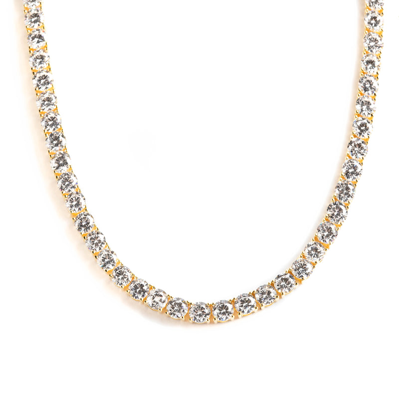 925 SILVER GOLD PLATED CHAIN WITH CRYSTALS