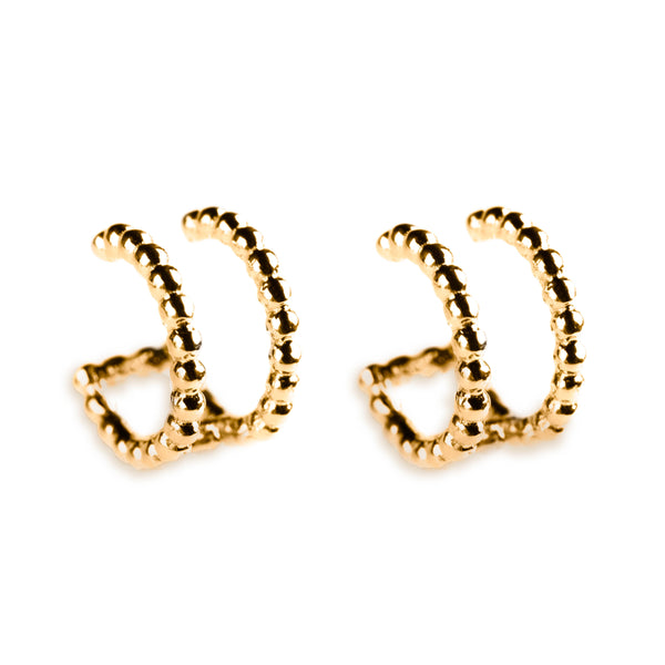925 SILVER GOLD PLATED EAR CUFFS