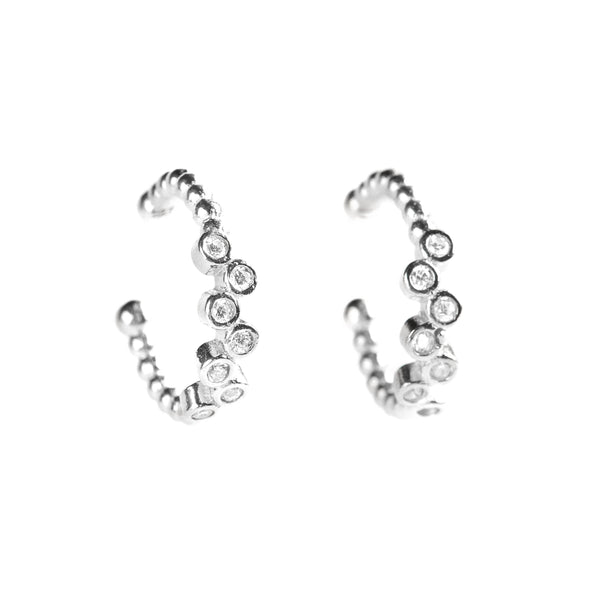 925 SILVER EARCUFFS WITH CRYSTALS