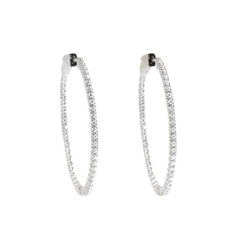 925 SILVER HOOPS WITH CRYSTALS