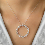 925 SILVER CHAIN WITH CIRCLE OF CRYSTALS