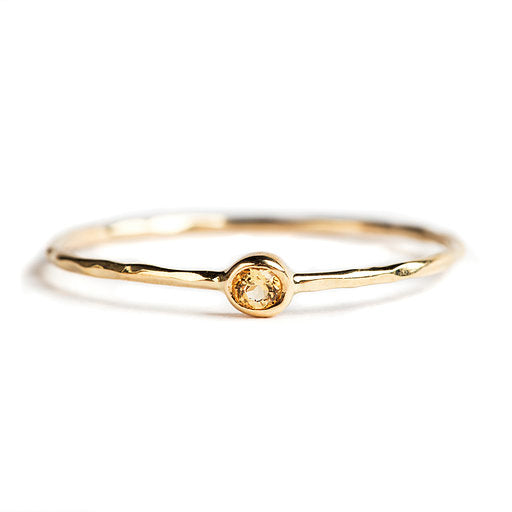 14K GOLD RING WITH CITRINE