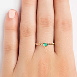 925 SILVER GOLD PLATED RING WITH GREEN ONYX