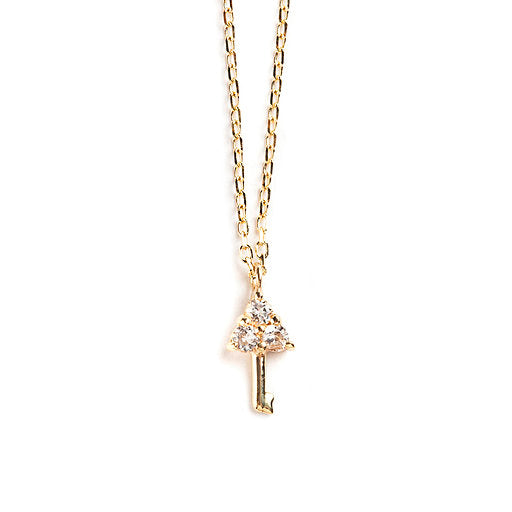 14K GOLD PENDANT WITH DIAMOND KEY