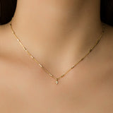 925 GOLD PLATED CHAIN WITH CROOSS PENDANT WITH CRYSATALS