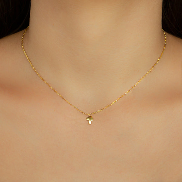 925 GOLD PLATED CHAIN WITH CROSS