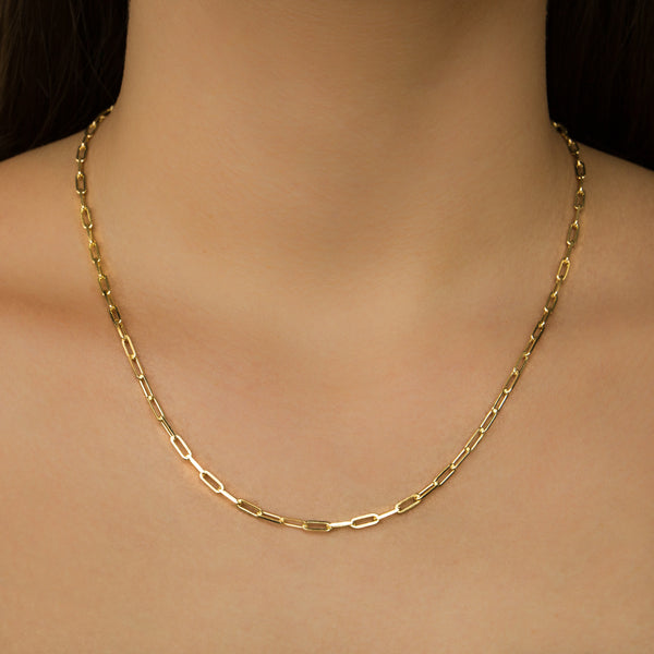 925 GOLD PLATED CHAIN WITH LINKS