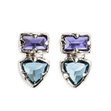 925 SILVER EARRINGS WITH IOLITE AND LONDON BLUE TOPAZ