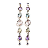 925 SILVER EARRINGS WITH BRAZILIAN AMETHYST AND IOLITE