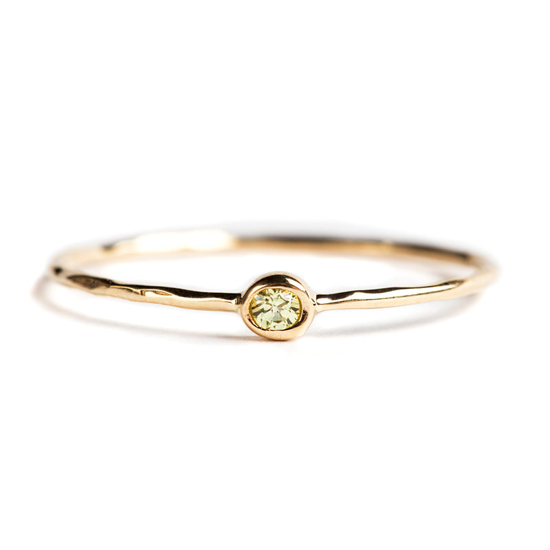14K GOLD RING WITH PERIDOT
