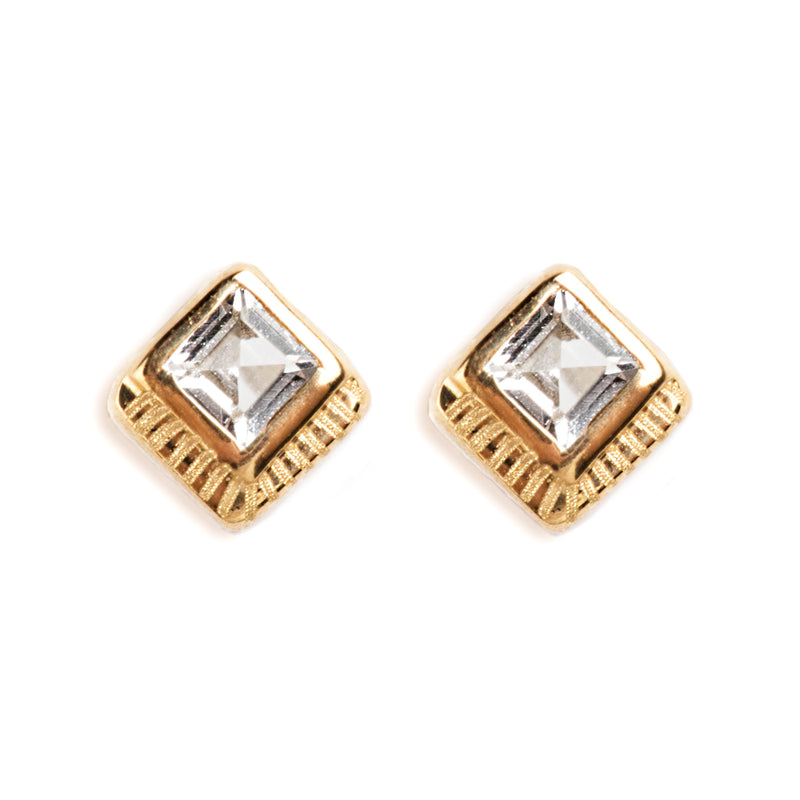 14K GOLD EARRINGS WITH TOPAZ
