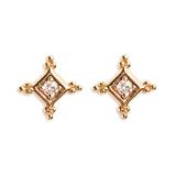 14K GOLD EARRINGS WITH DIAMOND