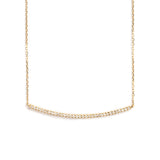 14K GOLD PENDANT WITH DIAMOND BAR