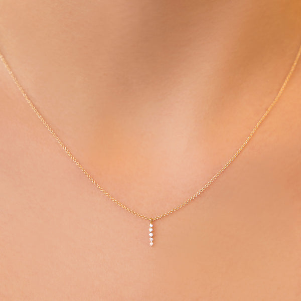 14K GOLD PENDANT WITH DIAMONDS