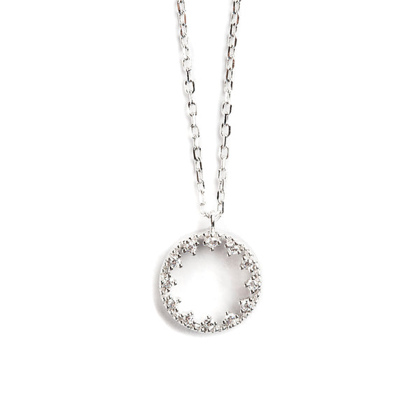 925 SILVER CHAIN WITH ROUND BISEL PENDANT