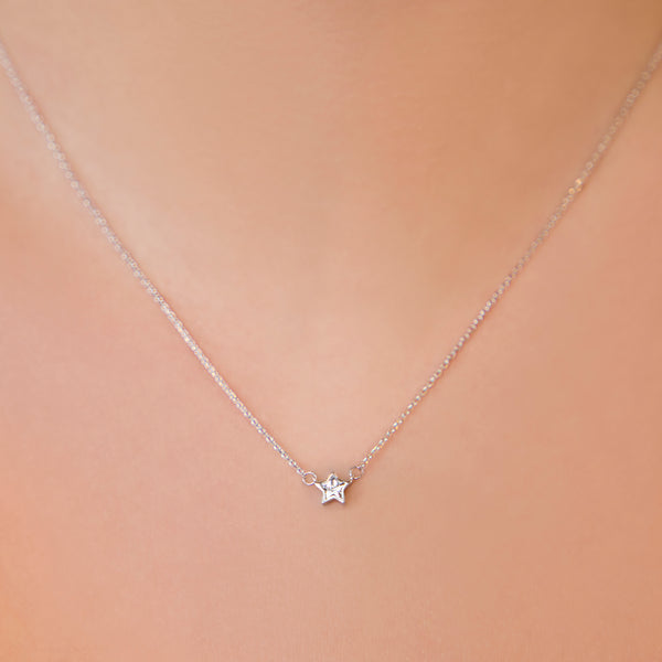 925 SILVER CHAIN WITH CRYSTAL STAR PENDANT