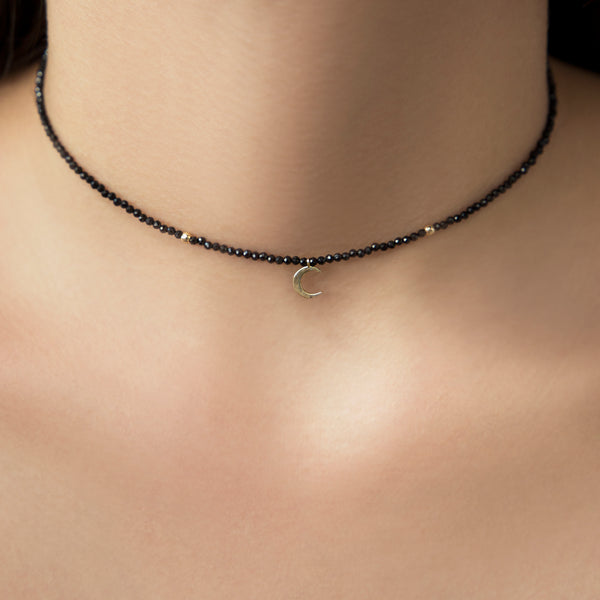 925 SILVER GOLD PLATED CHOKER WITH MULTICOLOR BEADS