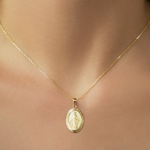 14K GOLD MIRACULOUS MEDAL PENDANT