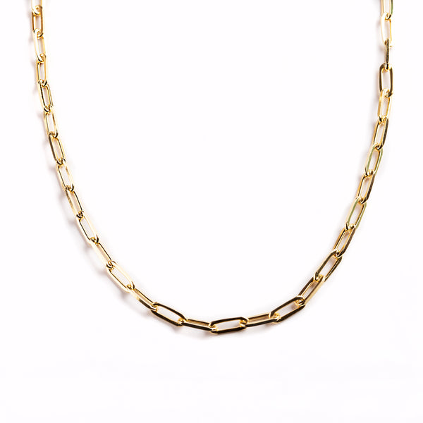 925 GOLD PLATED LONG CHAIN WITH LINKS