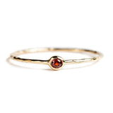 14K GOLD RING WITH GARNET