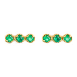 925 SILVER GOLD PLATED EARRINGS WITH GREEN ONYX