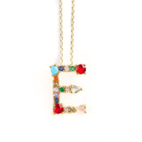 925 GOLD PLATED SILVER NECKLACE WITH STONE LETTER Z PENDAT