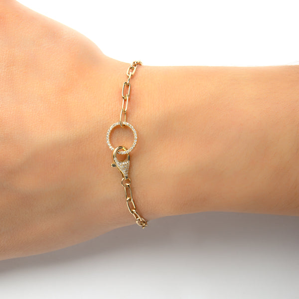 14K GOLD BRACELET WITH DIAMONDS