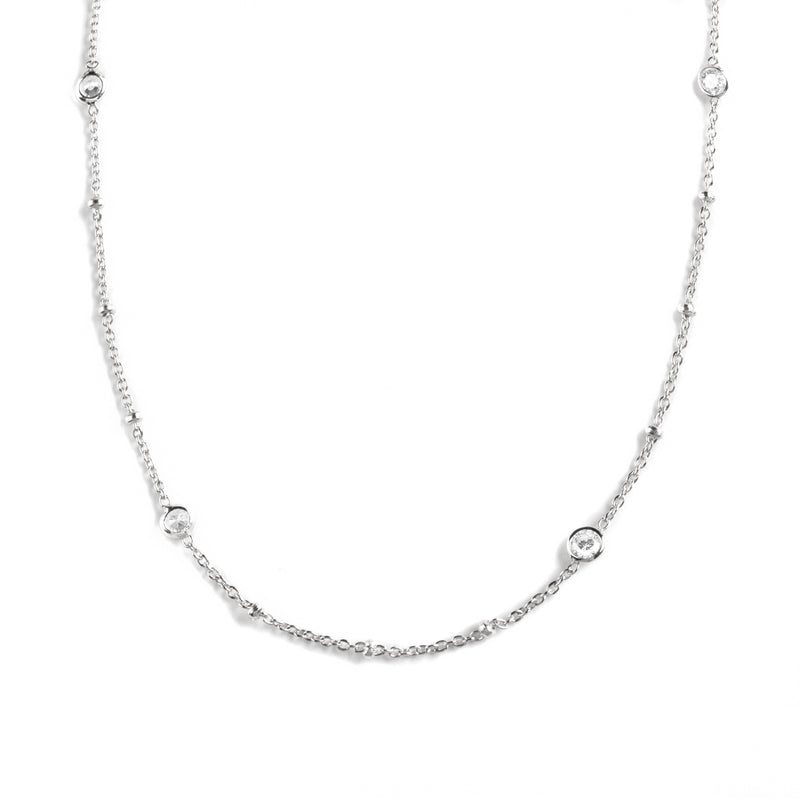 925 SILVER CHAIN WITH CRYSTALS