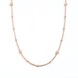 925 SILVER ROSE GOLD PLATED CHAIN WITH CRYSTALS