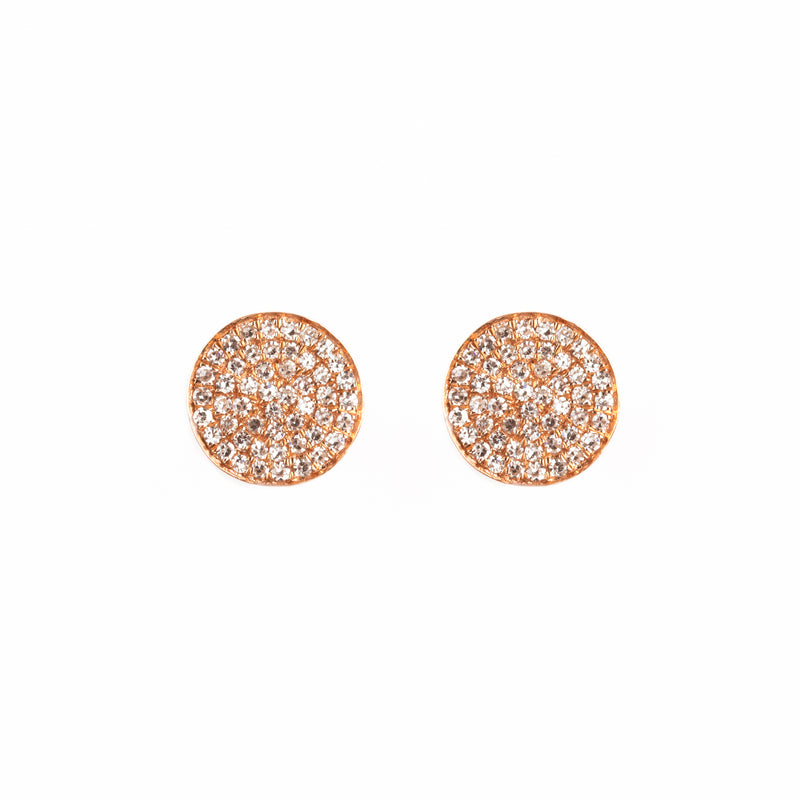 14K ROSE GOLD EARRINGS WITH DIAMONDS