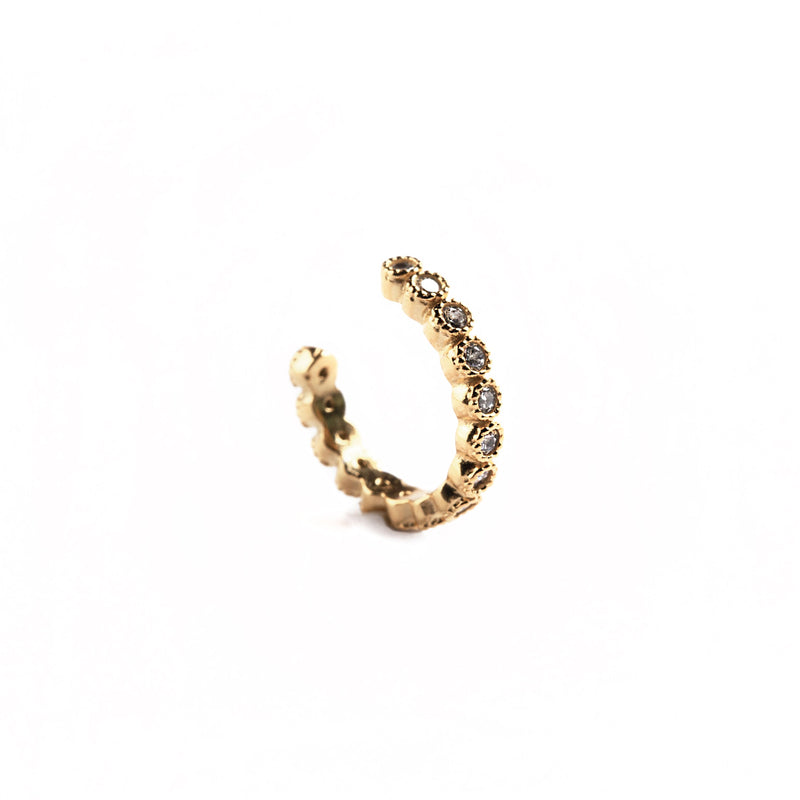 925 GOLD PLATED SILVER EARCUFF WITH CRYSTALS