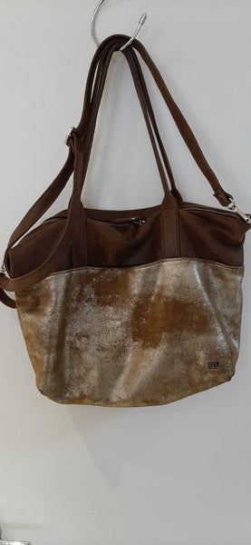 Owen Barry Gold and Brown Handbag