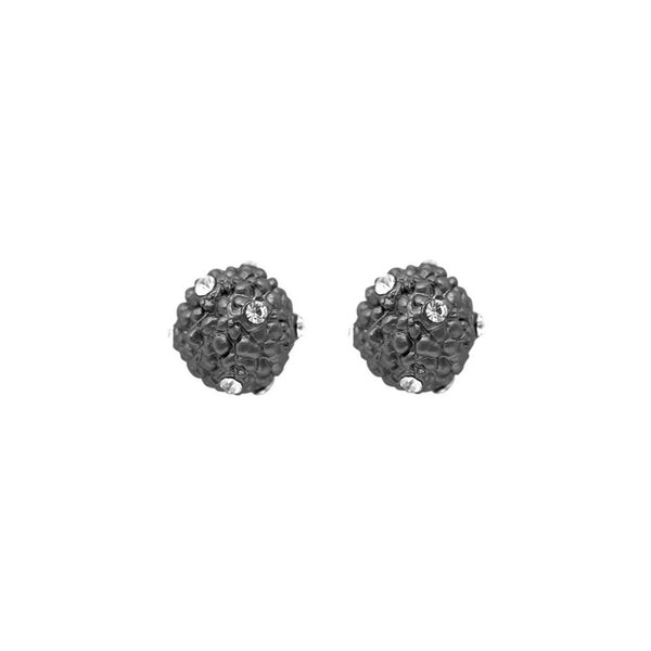 Grey Crystal Effect Stud Earrings