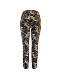 Techno Leaf Print Pull On Trousers