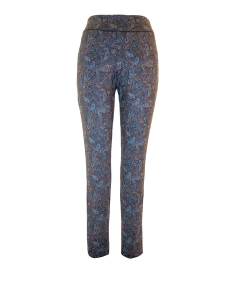 Paisley Print Pull On Trousers