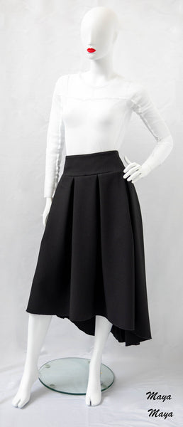 Dipped Hem Skirt - Maya Maya Ltd