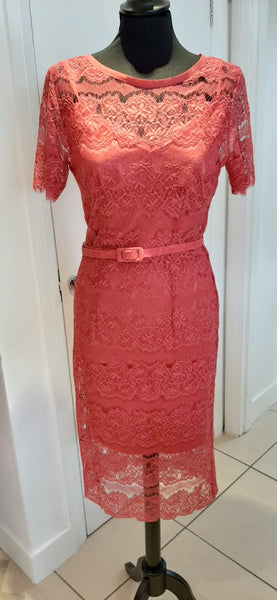 Body Frock Lace Dress Salmon Pink