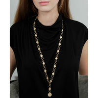 Gold Plated T Bar Necklace