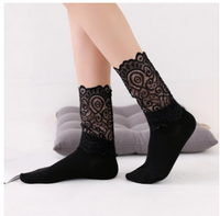 Lacey High Ankle Socks