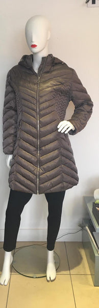 Taupe Long Winter Coat