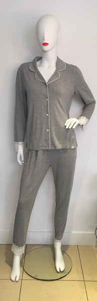 Grey Lace PJ Set