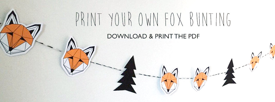Print your own fox bunting