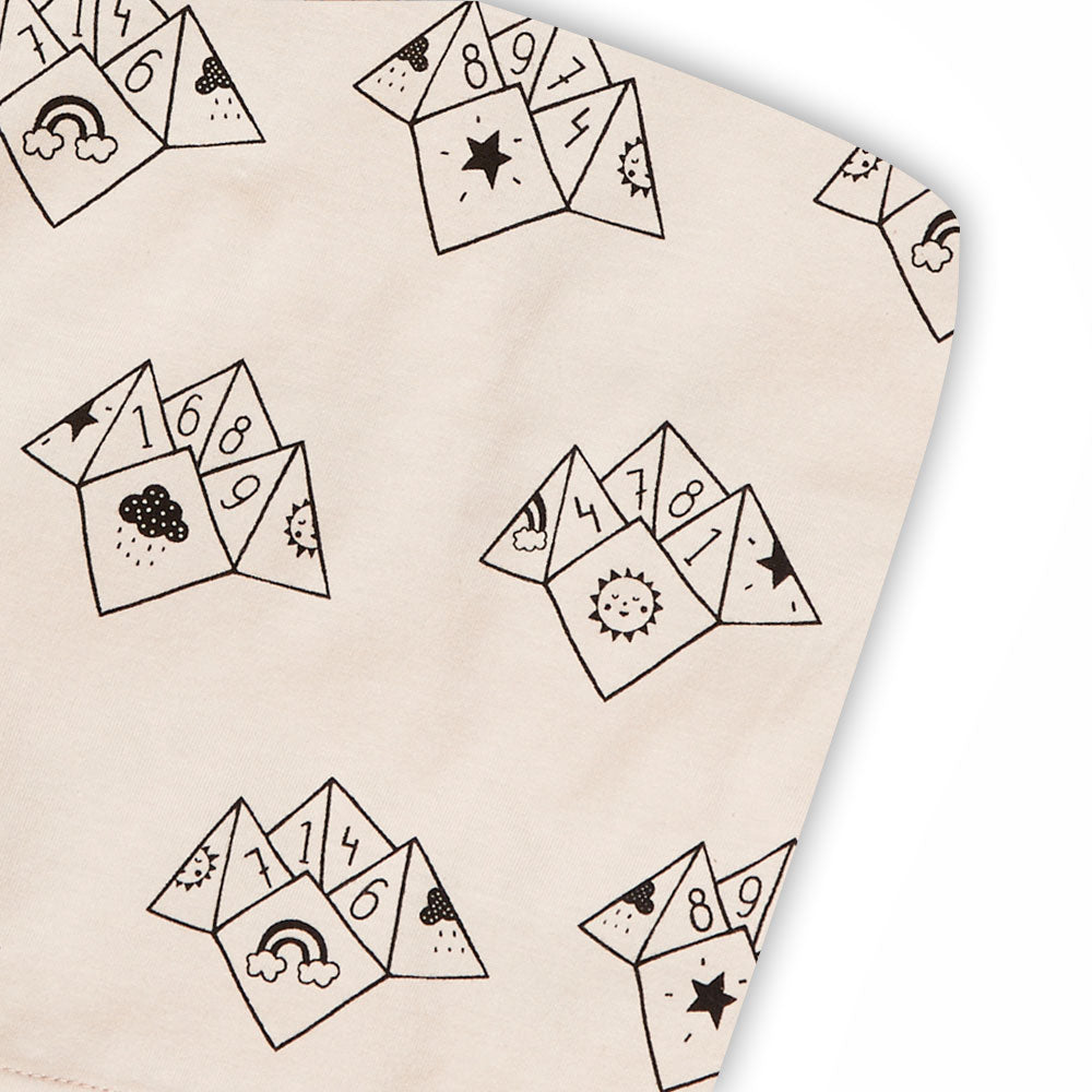 Fortune Teller cotbed sheet (peach)